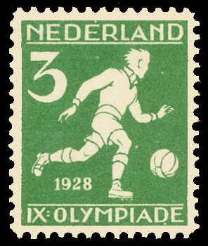Setting the stage for future Olympic stamp issues, the Netherlands were the first to produce stamps depicting sports of the Modern Olympic Games. The set of 8 stamps were issued for the 1928 Amsterdam Olympics.